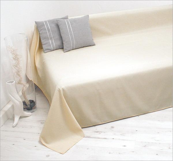 tagesdecke plaid berwurf sofa berwurf 210x280cm creme ebay. Black Bedroom Furniture Sets. Home Design Ideas