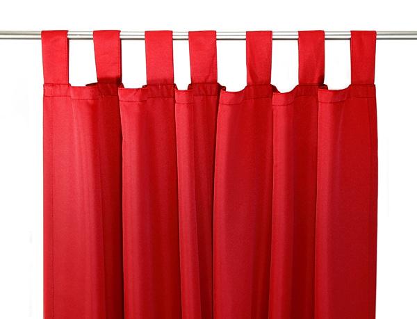schlaufenschal vorhang gardine rot 140x245cm neu ebay. Black Bedroom Furniture Sets. Home Design Ideas