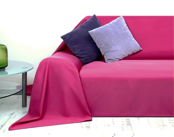 tagesdecke plaid berwurf sofa berwurf pink 210x280cm ebay. Black Bedroom Furniture Sets. Home Design Ideas
