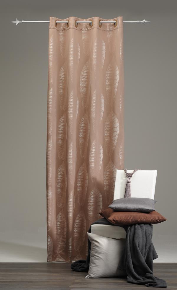 dekoschal sen vorhang gardine beige weiss 140x235cm ebay. Black Bedroom Furniture Sets. Home Design Ideas