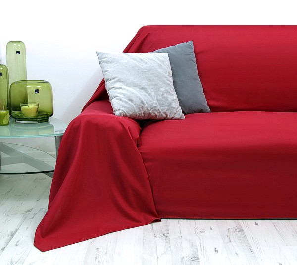 tagesdecke decke decken plaid berwurf sofa berwurf rot 210x280cm ebay. Black Bedroom Furniture Sets. Home Design Ideas