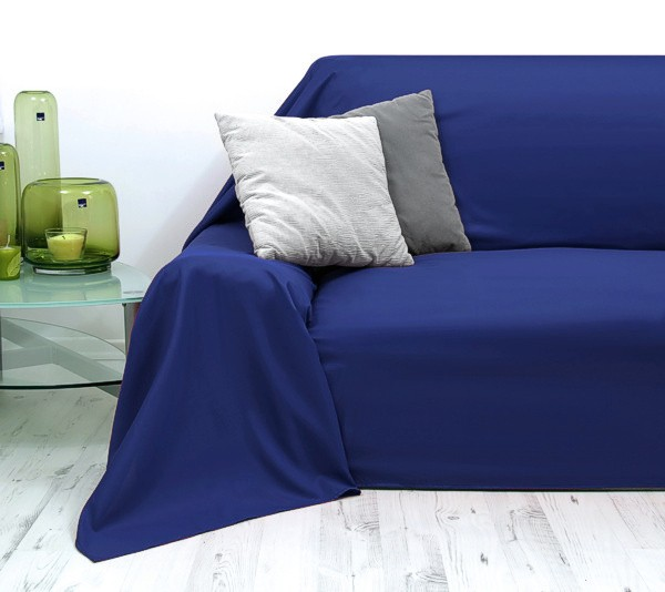 tagesdecke decke plaids plaid bett sofa berwurf sofa berwurf 210x280cm blau ebay. Black Bedroom Furniture Sets. Home Design Ideas