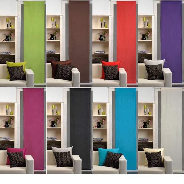 schiebegardine vorhang alexa 60x245cm div farben ebay. Black Bedroom Furniture Sets. Home Design Ideas