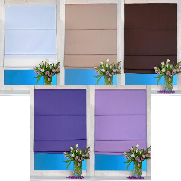 raffrollo rollo valeria 80x160cm div farben ebay. Black Bedroom Furniture Sets. Home Design Ideas