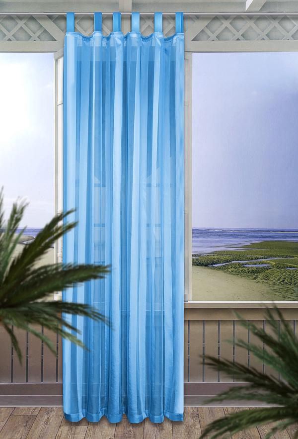 schlaufenschal schlaufen gardine 140x245cm t rkis ebay. Black Bedroom Furniture Sets. Home Design Ideas