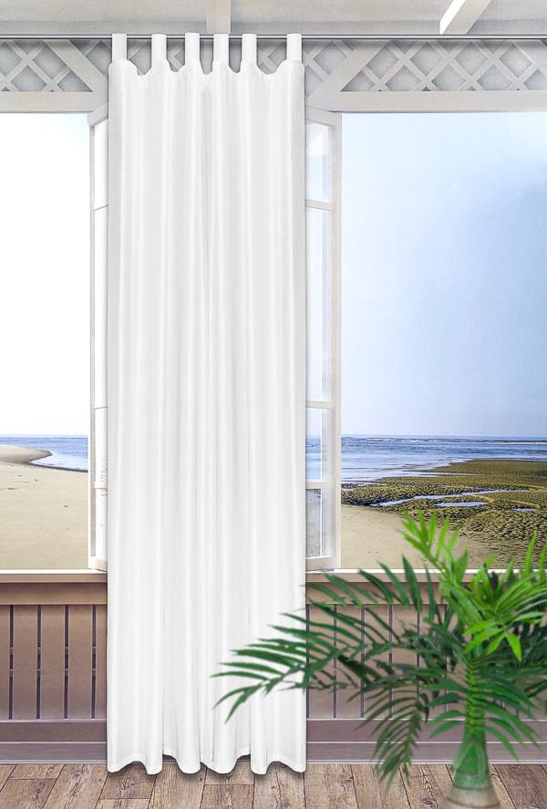 schlaufenschal dekoschal gardine vorhang fensterschal. Black Bedroom Furniture Sets. Home Design Ideas