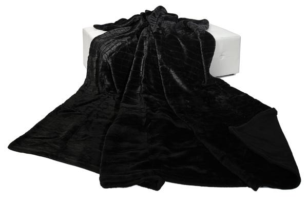 xxl nerzdecke fellplaid plaid decke 210x280cm schwarz ebay. Black Bedroom Furniture Sets. Home Design Ideas