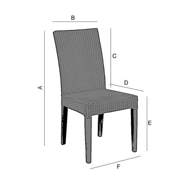 stuhlhusse husse stuhl berwurf berzug stuhl 40x42cm rautenmuster terra ebay. Black Bedroom Furniture Sets. Home Design Ideas