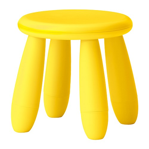 ikea kinderhocker mammut hocker kinderm bel gelb neu ebay. Black Bedroom Furniture Sets. Home Design Ideas