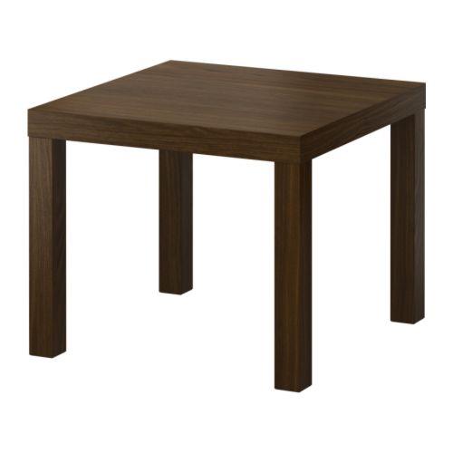ikea beistelltisch lack couchtisch nussbaum 55x55 tisch ebay. Black Bedroom Furniture Sets. Home Design Ideas