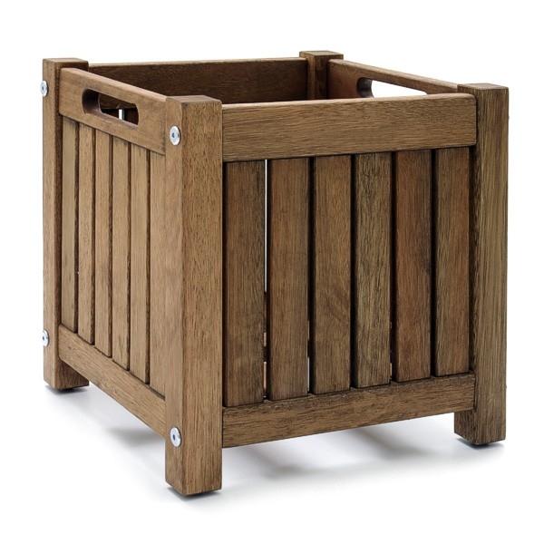 ikea bertopf massivholz pflanzk bel wetterfest 30x30cm ebay. Black Bedroom Furniture Sets. Home Design Ideas