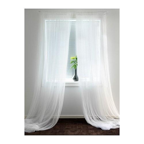 ikea gardinenschals lill vorh nge 280x300cm zwei wei e schlaufenschals neu ebay. Black Bedroom Furniture Sets. Home Design Ideas