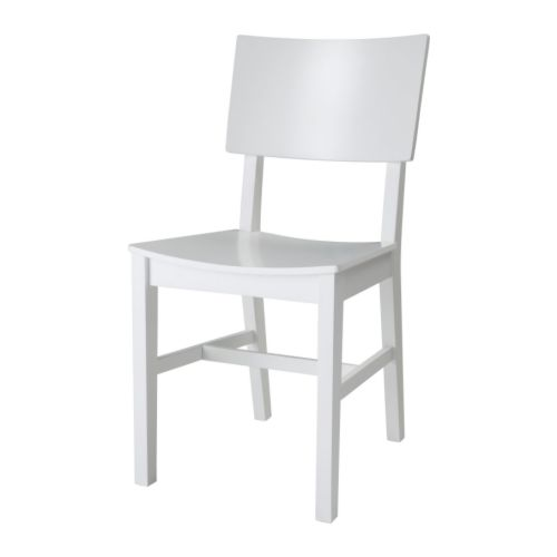 ikea stuhl norvald schalensitz massive birke weiss neu ebay. Black Bedroom Furniture Sets. Home Design Ideas