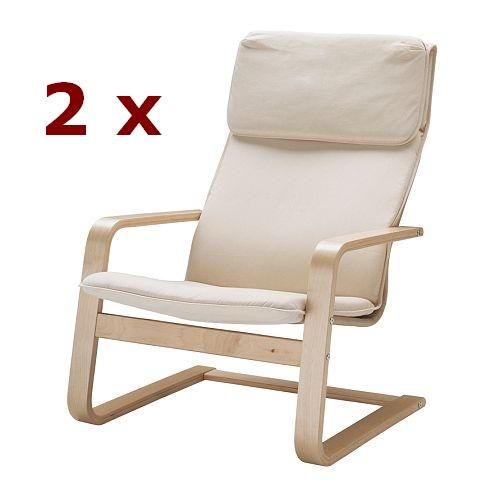 ikea 2 er set schwingsessel pello sessel freischwinger loungechair neu ebay. Black Bedroom Furniture Sets. Home Design Ideas