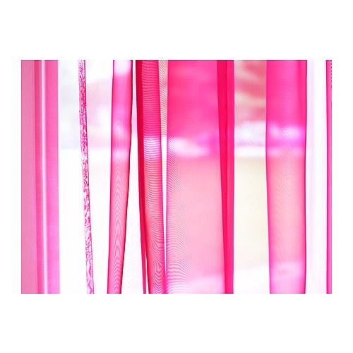 ikea 2 er set gardinenschal sarita vorh nge schlaufenschal gardine in pink ebay. Black Bedroom Furniture Sets. Home Design Ideas