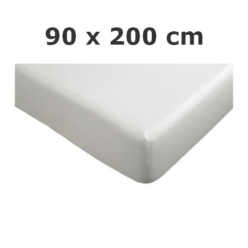 ikea spannbettlaken knoppa bettlaken 90x200 cm spannbetttuch in weiss neu ebay. Black Bedroom Furniture Sets. Home Design Ideas